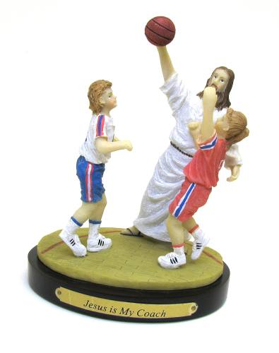 "Statue ""Jesus is My Coach"" Basketball"