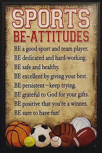 "Prayer Plaque ""Sports Be-Attitudes"""