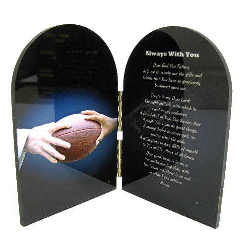 Prayer Plaque Football
