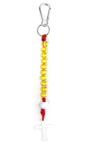Keychain Decade Rosary Softball