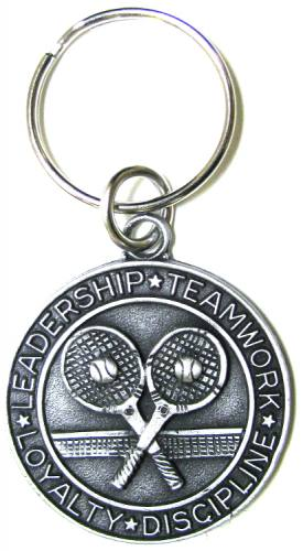 Keychain St Christopher Medal Tennis Pewter
