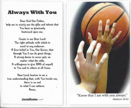 Prayer Card Basketball (25 pack) Laminated