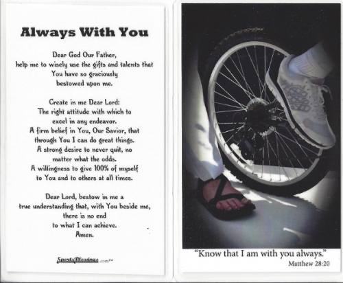 Prayer Card Biking Laminated