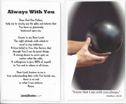 Prayer Card Bowling (25 pack) Laminated