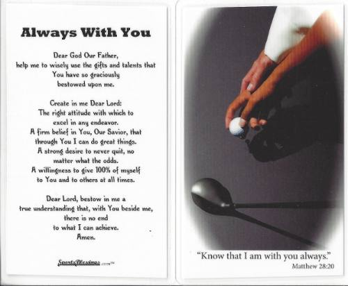 Prayer Card Golf Laminated