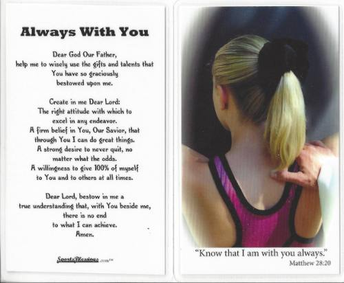 Prayer Card Gymnastics Laminated