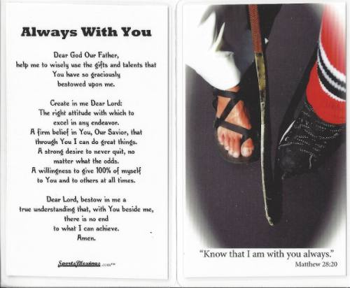 Prayer Card Ice Hockey (25 pack) Laminated