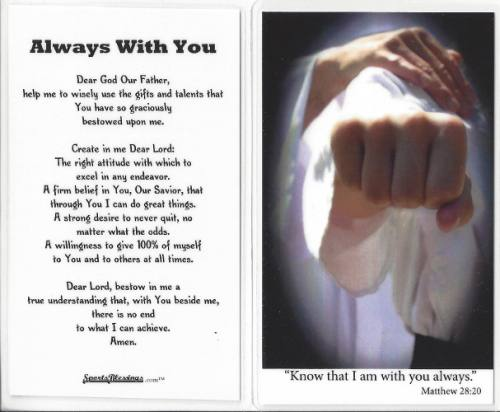 Prayer Card Martial Arts / Karate (25 pack) Laminated