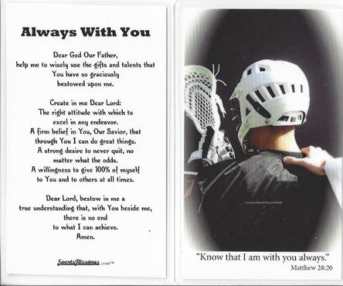 Prayer Card Lacrosse (25 pack) Laminated