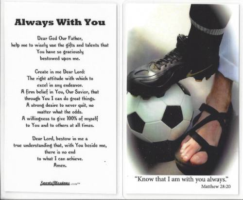 Prayer Card Soccer Men / Boy Laminated