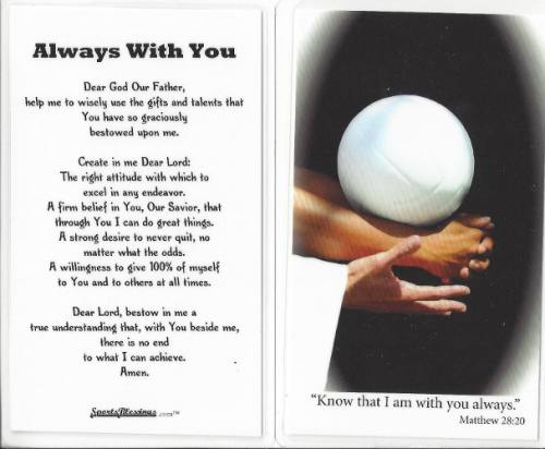 Prayer Card Volleyball (25 pack) Laminated